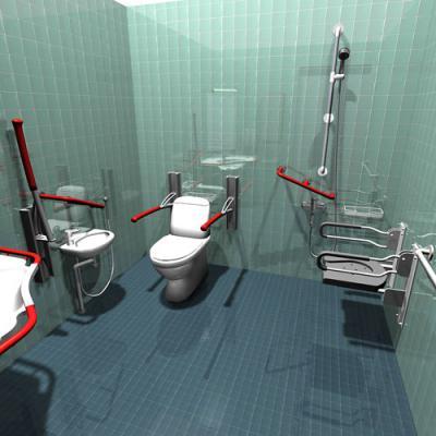 Оборудование в ванную комнату для инвалида