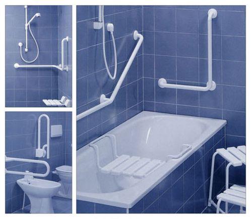 поручни, ступеньки, сидения для ванной для проведения гигиенических процедур инвалидные